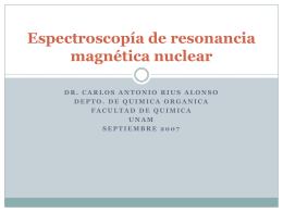 Espectroscopía de resonancia magnética nuclear