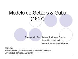 Modelo de Getzels & Guba - Technoteachlearn`s Blog