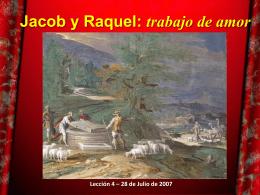 Lección 4: Jacob y Raquel