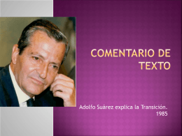 Comentario de texto - Historia de España |