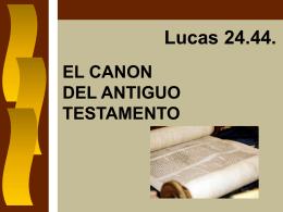 EL CANON DEL ANTIGUO TESTAMENTO - Inicio ICIAR -