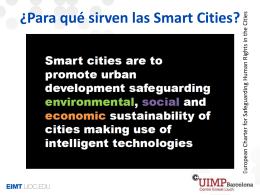 ¿Para qué sirven las Smart Cities?