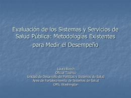 Evaluación de los sistemas y servicios de salud