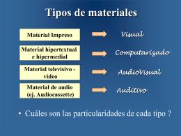 Tipos de materiales - III-LIDI