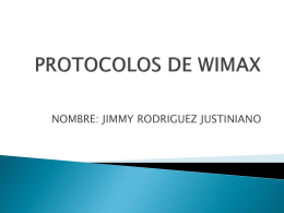 PROTOCOLOS DE WIMAX - Telecomunicaciones UDABOL