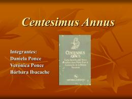 Centesimus Annus - Trabajo Social UDLA