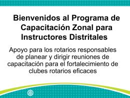 Diapositivas (sugeridas) para el Programa de