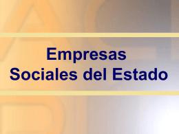 ¿Qué es una Empresa Social del Estado?