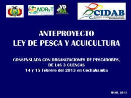 Anteproyecto de ley de pesca y acuicultura -