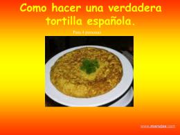 Como hacer una verdadera tortilla española.