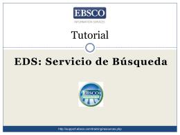 Tutorial: EDS Servicio de Búsqueda para usarios