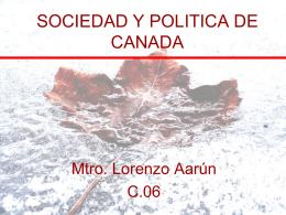 SOCIEDAD Y POLITICA DE CANADA