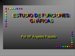 ESTUDIO DE FUNCIONES: GRÁFICAS - matesap