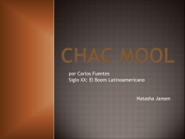 CHAC MOOL - SradAPSpanishLitandCulture