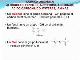 QUIMICA ORGANICA ALCOHOLES, FENOLES, Y ETERES