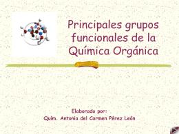 Principales grupos funcionales de la Química