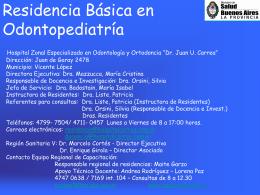 Residencia en Odontopediatría (Básica) HOSPITAL