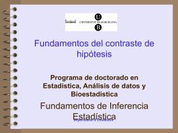 Contraste de hipótesis - Universitat de Barcelona