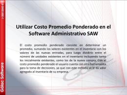 Utilizar Costo Promedio Ponderado en el Software