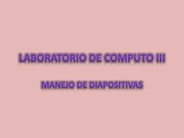 LABORATORIO DE COMPUTO III