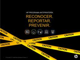 HP programa Antipiratería reconocer. Reportar.
