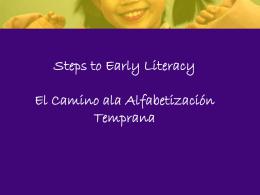 Oral Language Development Desarrollo del Lenguaje