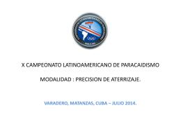 CAMPEONATO LATINOAMERICANO DE PARACAIDISMO