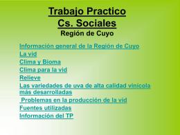Trabajo Practico Cs. Sociales Región de Cuyo