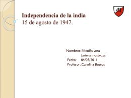 Independencia de la india - Rincondetareas`s Blog