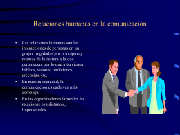 Relaciones humanas en la comunicación