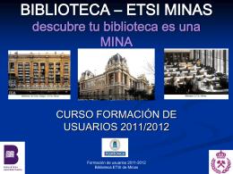BIBLIOTECA – ETSI MINAS