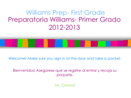 Williams Prep- First Grade 2012-2012