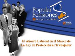"""Popular Pensiones """"Operadora de Pensiones"""