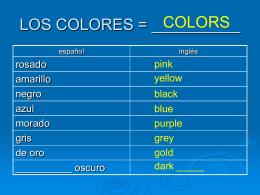 La Ropa y Los Colores - Señora Holmes - Español -