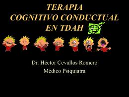 TERAPIA COGNITIVO CONDUCTUAL EN TDAH