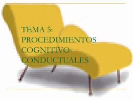 TEMA 6: PROCEDIMIENTOS COGNITIVO