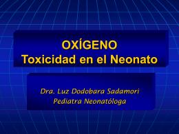 OXÍGENO – Toxicidad