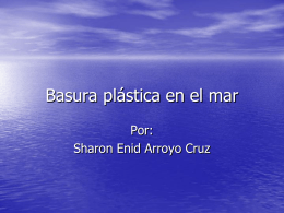 Basura plástica en el mar
