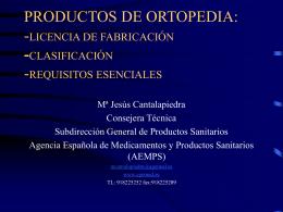 PRODUCTOS DE - Presentación de AEPODE