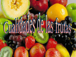 Cualidades de las frutas - aprendemoscastellano -