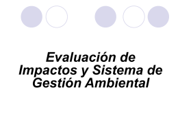 EVALUACIÓN DE IMPACTOS Y SISTEMA DE GESTIÓN