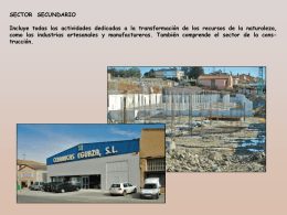 Sector Secundario. Tipos de industria. Factores