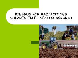 RIESGOS POR RADIACIONES OPTICAS EN EL SECTOR