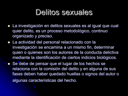 Delitos sexuales - Justicia Forense