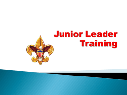 Junior Leader Training