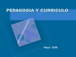 PEDAGOGIA Y CURRICULO - regalado
