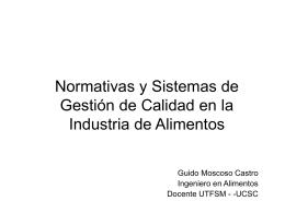 Normativas y Sistemas de Gestión de Calidad en la