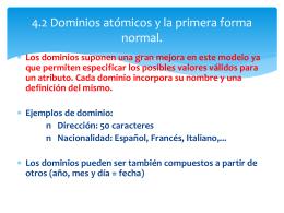 4.2 Dominios atómicos y la primera forma normal.