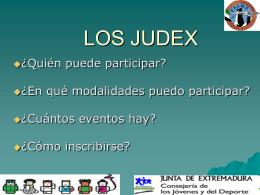 ¿CÓMO PARTICIPAR EN LOS JUDEX?