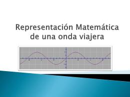 Representación Matemática de una onda viajera